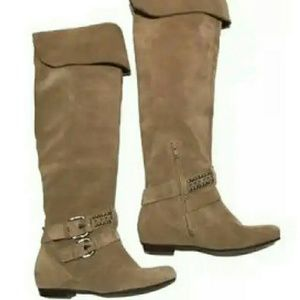 BCBG over knee boots suede women size 6.5M